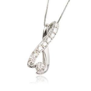 天然ダイヤモンド0.5ct誕生石4月曲線プラチナレディースネックレスペンダント me.luxeミーリュックス#95-8011ウィメンズン|tifose