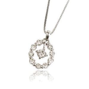 天然ダイヤモンド0.3ctカラットプラチナネックレス ペンダントメンズ|tifose