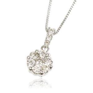 天然ダイヤモンド0.34ctプラチナネックレス ペンダントメンズト|tifose