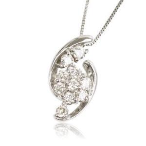 天然ダイヤモンド0.5ct誕生石4月プラチナレディースネックレスペンダント me.luxeエムイーリュックス#95-8016ウィメンズン|tifose