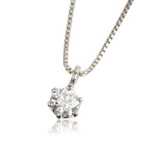 天然ダイヤモンド0.2ct K18WGホワイトゴールド1粒ネックレス メンズ|tifose
