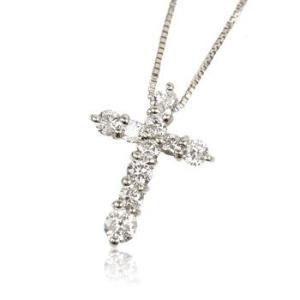 K18WG天然ダイヤモンド0.3ct十字架クロスレディースネックレス me.luxeミーリュックス#95-8030ウィメンズホ|tifose
