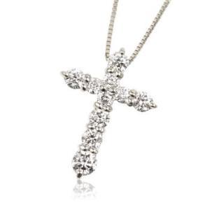 K18WG天然ダイヤモンド0.5ct十字架クロスレディースネックレス me.luxeエムイーリュックス#95-8031ウィメンズー|tifose