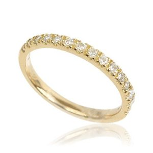 K18YGイエローゴールド天然ダイヤモンド0.3ctレディースハーフエタニティリング指輪 me.luxeミーリュックス#95-8044ウィメンズ|tifose