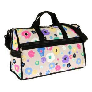 レスポートサックLeSportsac 7185 D388 花柄フラワー模様柄ポーチ付きボストンバッグ旅行鞄ショルダーバッグかわいい大きいかばんトラベルベージュ|tifose