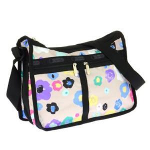 レスポートサックLeSportsac 7507 D386 花柄フラワー模様柄ポーチ付きショルダーバッグかわいいカラフルかばん旅行鞄使い勝手よいカバントラベルバックベージュ|tifose