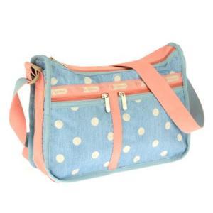 レスポートサックLeSportsac 7507 D388 水玉模様ドット柄ポーチ付きショルダーバッグかばんかばん旅行鞄カバンバック水色ペールブルーピンクかわいい|tifose