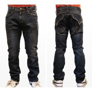 レッドペッパージーンズ メンズ REDPEPPER JEANS#6153正規品ポケットジップセミストレートジーンズ|tifose