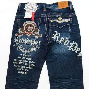 レッドペッパージーンズ メンズ REDPEPPER JEANS#6156正規品バックロゴ刺繍ストレートデニムパンツ|tifose