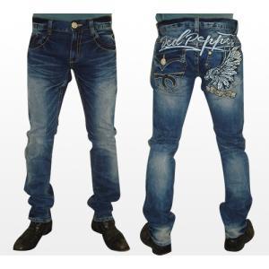 【送料無料】ポケットジップセミストレートジーンズ/メンズ/REDPEPPERJEANS/レッドペッパージーンズ/正規品/大きいサイズ/韓国デニム/ジーパン|tifose