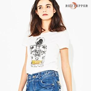 RED PEPPER JEANS レッドペッパージーンズ レディース 香水モチーフTシャツ 81LT-48|tifose