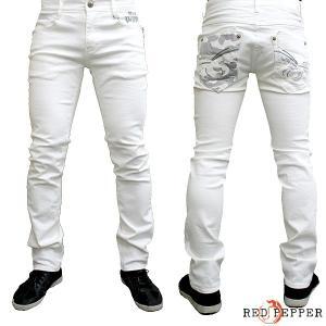 RED PEPPER JEANS レッドペッパージーンズ メンズ セミストレートデニム ホワイト No.RJ2032-1|tifose