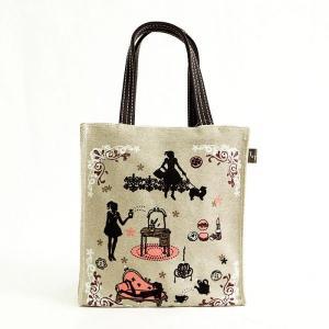 T&Tコーポレーション女の子シルエットサブミニトートバッグ外出レジャーバックランチバッグお弁当袋フェミニン雑貨かわいい小さいかばん|tifose