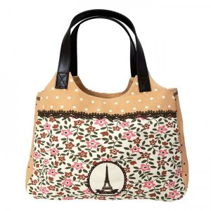T&Tコーポレーション ハンドバッグ かわいい ラウンドトートバッグ レディース 黒猫 うさぎ 花柄 A4ファイル入る鞄 大きいかばん ショルダーバッグ|tifose|04