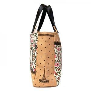 T&Tコーポレーション ハンドバッグ かわいい ラウンドトートバッグ レディース 黒猫 うさぎ 花柄 A4ファイル入る鞄 大きいかばん ショルダーバッグ|tifose|05