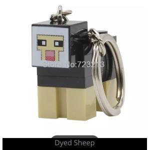マインクラフト ブロック キーホルダー 羊 黒 マイクラゲームキャラクターグッズ