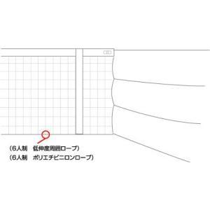 周囲ロープ【6人制バレーボールネット用】低伸度周囲ロープ