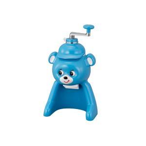 タイガー 氷削り器 きょろちゃん ABF-F100AK ブルー 手動 かき氷 かきごおり 復刻