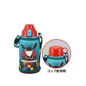水筒 ボトル 直飲み コップ付き 子供用 水分補給 タイガーステンレスボトル 2WAY(0.6L)MBR-A06G-A ハリモグラ