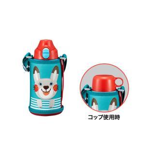 水筒 子供 タイガー MBR-B06GAR ウサギ コロボックル 2way ステンレスボトル コップ 直飲み 子ども 入園 入学
