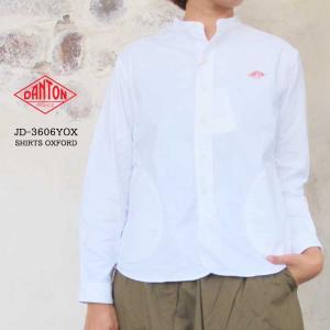 DANTON  JD-3606YOX バンドカラーストライプシャツ  レディース〔SK〕