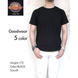 < Goodwear / グッドウェア > 7.2oz Heavy Weight Pocket T-shirts Slim * メンズ 〔FL〕|tigers-brothers