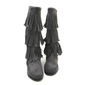 **MINNETONKA (#1631T)Women's 3-Layer Fringe Boot