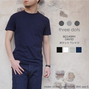 <three dots/スリードッツ>から、着心地がよく適度なフィット感がある、メンズTシャツ<DA...