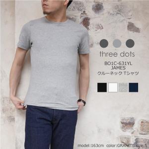 <three dots/スリードッツ>から、着心地がよく適度なフィット感がある、メンズTシャツ<JA...