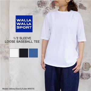 WALLA WALLA SPORT ワラワラスポーツ 1/2 SLEEVE LOOSE BASEBA...