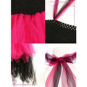 832136cceb4c7 ... コスプレ 衣装 ハロウィン 猫 黒 ピンク Tika ティカ 3点set バイカラー キャット チュチュ コスチューム ...