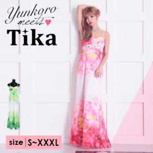 b955e7facb609 キャバ ドレス キャバドレス 大きいサイズ S〜XXXL ロング Tika ティカ バタフライ ビジューロングドレス ...