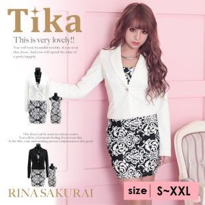 大きいサイズ (S〜XXL) キャバスーツ Tika ティカ...