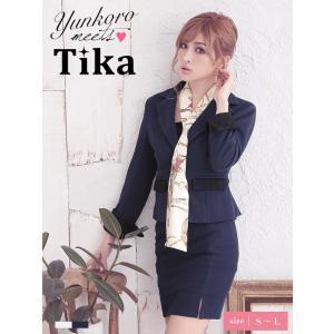 キャバ スーツ キャバスーツ Tika ティカ スカーフ付き...