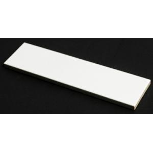 ひだ 白ブライト(艶あり) 二丁掛平(磁器)ブリックタイル 227x60x10mm 1枚単位の販売 昔の昭和レトロ、アンティークな和風建材です。 内壁(エントラ