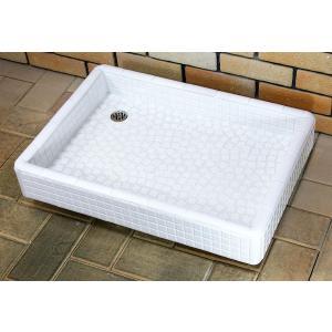 おしゃれタイル流し台 タイル洗面台 Mサイズ 0207ホワイト|tileshop