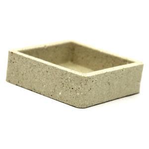 耐火レンガ 角鉢 小 サイズ約6.4×6.4×2cm tileshop