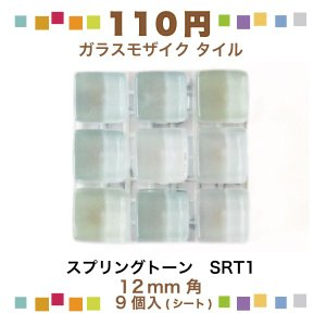 スプリングトーン 12角ネット張り 1袋9粒 クリア系 IM-12P1/SRT1|tileshopym
