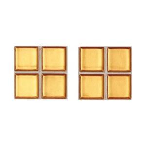 ニュアンス 25mm角ネット張り 1袋4枚×2セット 金 IM-25P1/NY21|tileshopym