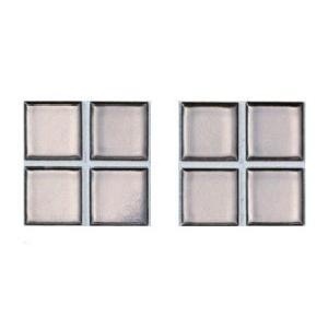 ニュアンス 25mm角ネット張り 1袋4枚×2セット 銀 IM-25P1/NY22|tileshopym