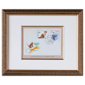 世界最初の猫切手(ヨーロッパ猫、ペルシャ)|timbre
