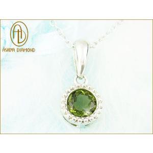 天然宝石モルダバイト/隕石の天然ガラス/芦屋ダイヤモンド/ジュエリーネックレスsilver925 time-yume7