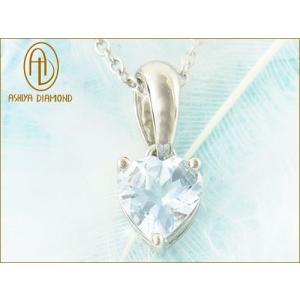 天然宝石アクアマリン/宝石ジュエリーネックレス/芦屋ダイヤモンド正規品|time-yume7