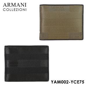 アルマーニ 財布 ARMANI COLLEZIONI YAM002 YCE75 二つ折り マネークリップ 全2色|timeclub
