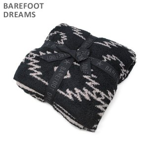 ベアフットドリームス ブランケット B611-93 CozyChic Canyon Blanket Black/Warm Grey BAREFOOT DREAMS|timeclub