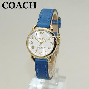 COACH (コーチ) 腕時計 14502709 ゴールド/ブルー レザー レディース 時計 ウォッチ timeclub