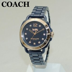 COACH (コーチ) 腕時計 14502753 TATUM テイタム ピンクゴールド/ネイビー レディース 時計 ウォッチ ブレス timeclub