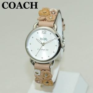 COACH (コーチ) 腕時計 14502873 シルバー/ベージュ レザー レディース 時計 ウォッチ timeclub