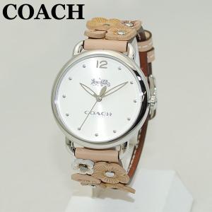 COACH (コーチ) 腕時計 14502874 シルバー/ベージュ レザー レディース 時計 ウォッチ timeclub