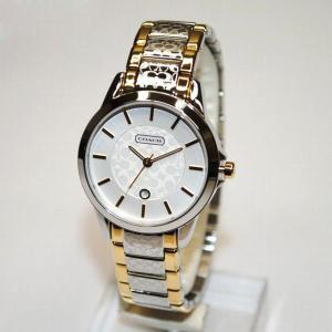 COACH (コーチ) 腕時計 14501430 クラシック シグネチャー シルバー/ゴールド  レディース 時計 ウォッチ ブレス timeclub